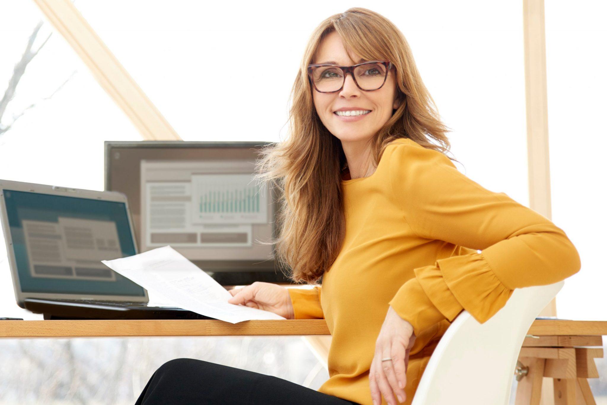Employee at desk